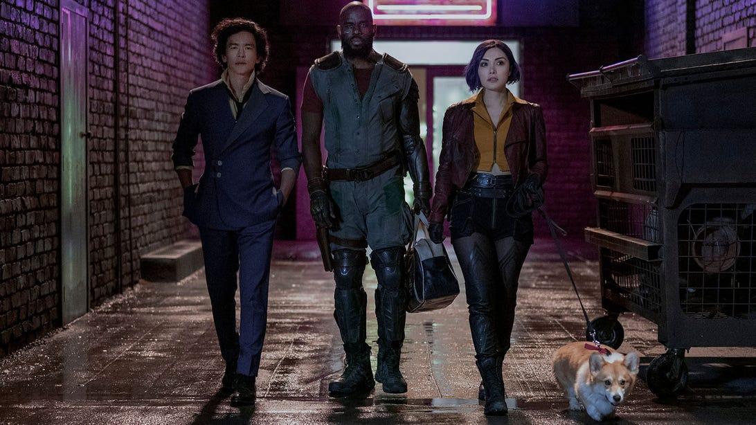 John Cho, Mustafa Shakir, and Daniella Pineda, Cowboy Bebop