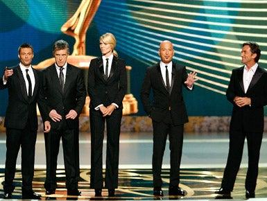 Ryan Seacrest, Tom Bergeron, Heidi Klum, Howie Mandel, and Jeff Probst - The 60th Primetime Emmy Awards, September 21, 2008