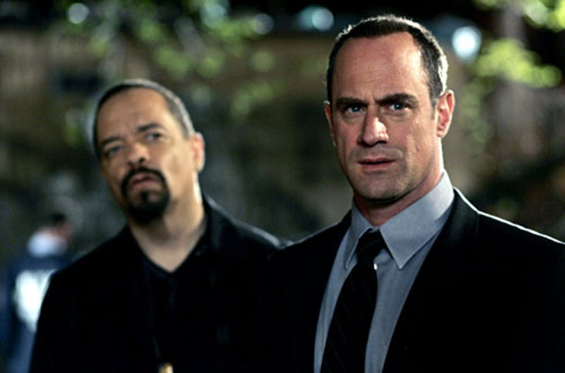 """Law & Order: SVU - Season 9 - """"Cold"""" - Ice-T as Det. Odafin """"Fin"""" Tutuola and Christopher Meloni as Det. Elliot Stabler"""