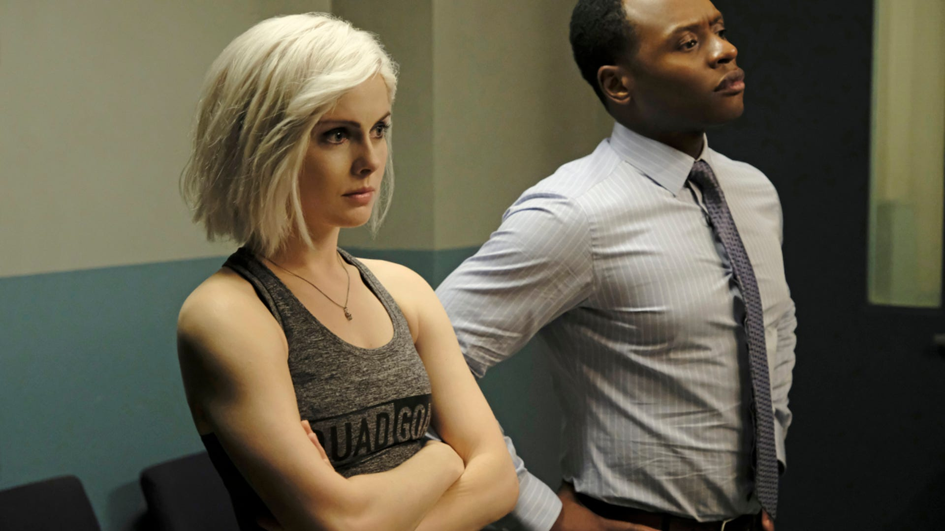 Rose McIver and Malcolm Goodwin, iZombie