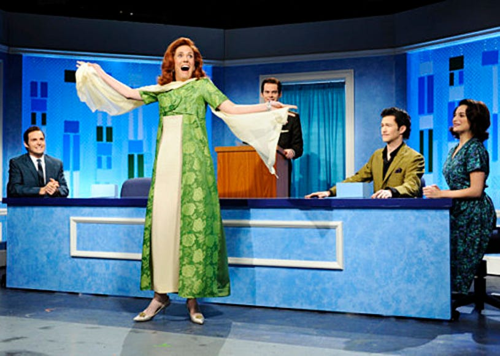 "Saturday Night Live - Season 35 - ""Joseph Gordon-Levitt"" Episode 1561 - Will Forte, Kristen Wiig, Bill Hader, Joseph Gordon-Levitt, Jenny Slate"
