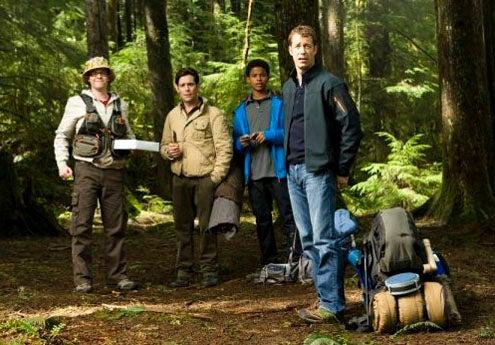 "Eureka - Season 4 - ""Momstrosity"" - Neil Grayston, James Callis, Trevor Jackson and Colin Ferguson"