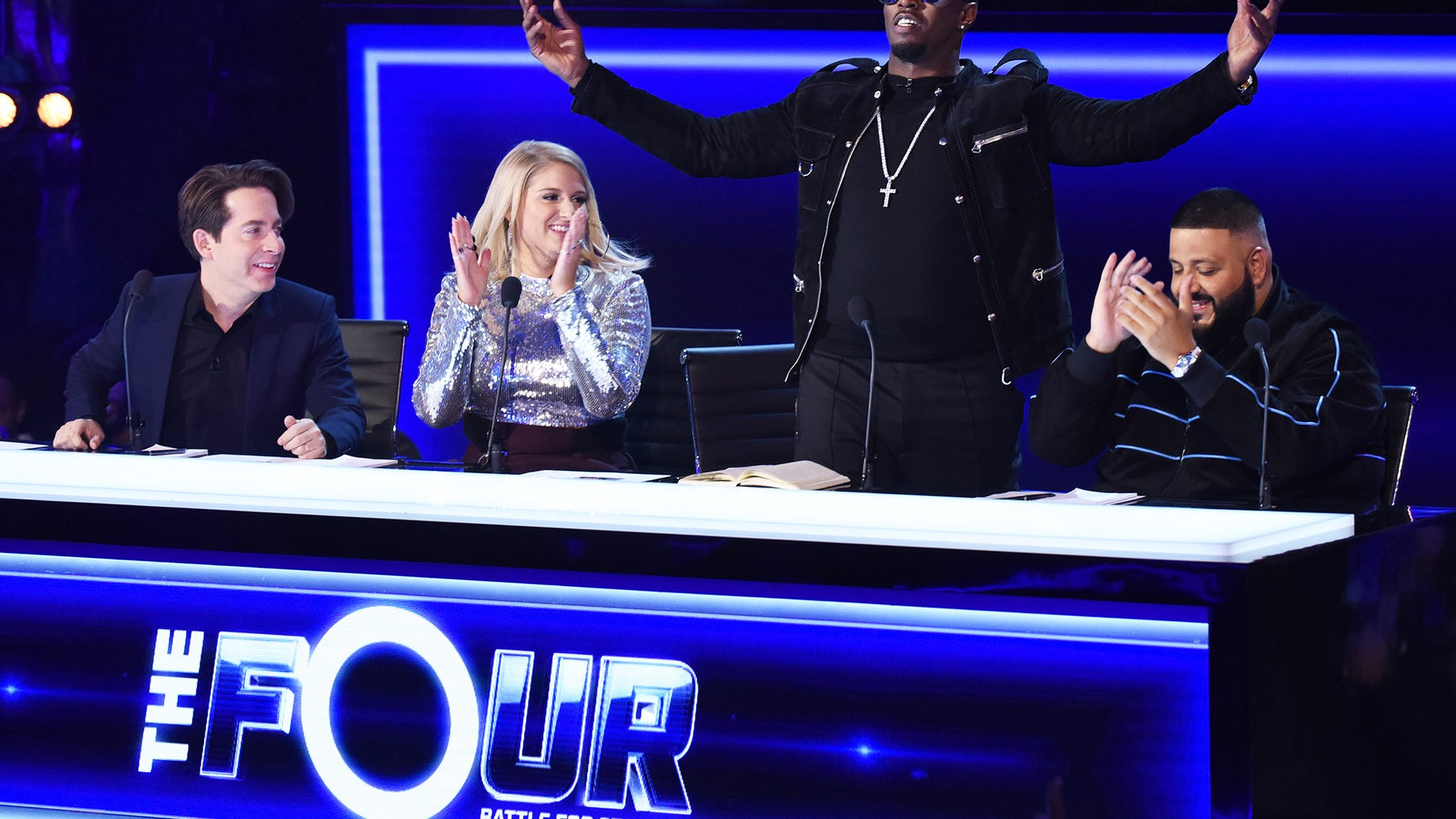 """Charlie Walk, Meghan Trainor, Sean """"Diddy"""" Combs and DJ Khaled, The Four: Battle for Stardom"""