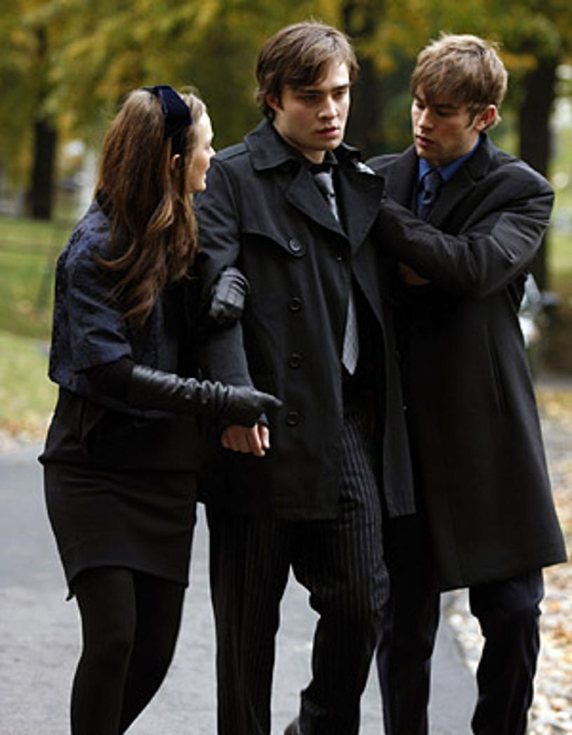 """Gossip Girl - Season 2, """"O Brother, Where Bart Thou?"""" - Leighton Meester as Blair, Ed Westwick as Chuck, Chace Crawford as Nate"""