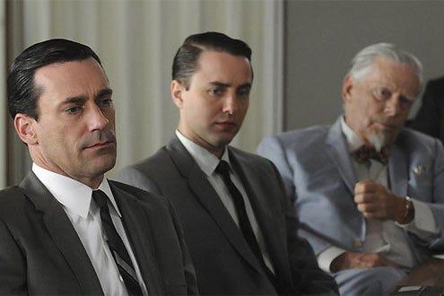 """Mad Men - Season 4 - """"Blowing Smoke"""" - Jon Hamm, Vincent Kartheiser and Robert Morse"""