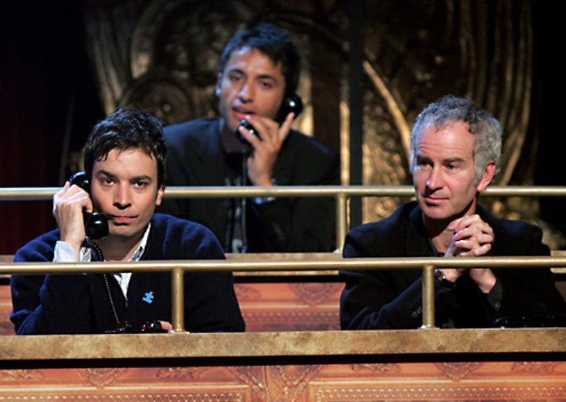 """Jimmy Fallon, Kamar de los Reyes, and John McEnroe - Onstage at the """"Night Of Too Many Stars: An Overbooked Benefit For Autism Education"""" in New York City, Oct. 15, 2006"""