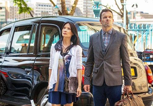 "Elementary - Season 2 - ""Step Nine"" - Lucy Liu and Jonny Lee Miller"