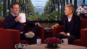 Top Videos: Ellen Helps Seth Meyers Practice Interviews, Girls Tour, Frozen Censored