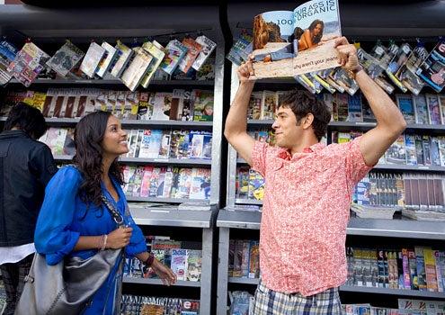 "Melrose Place - Season 1 - ""Caheunga"" - Jessica Lucas as Riley Richmond and Michael Rady as Jonah Miller"