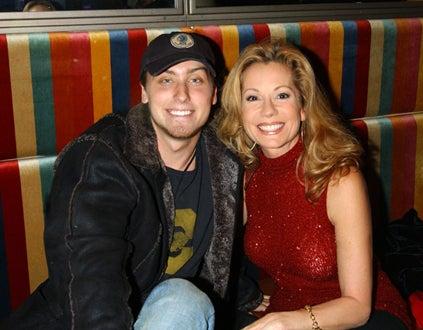 Lance Bass and Kathie Lee Gifford - Christmas Tree Lighting, Nov. 2001