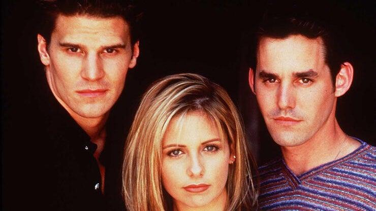 David Boreanaz, Sarah Michelle Gellar and Nicholas Brendon, Buffy