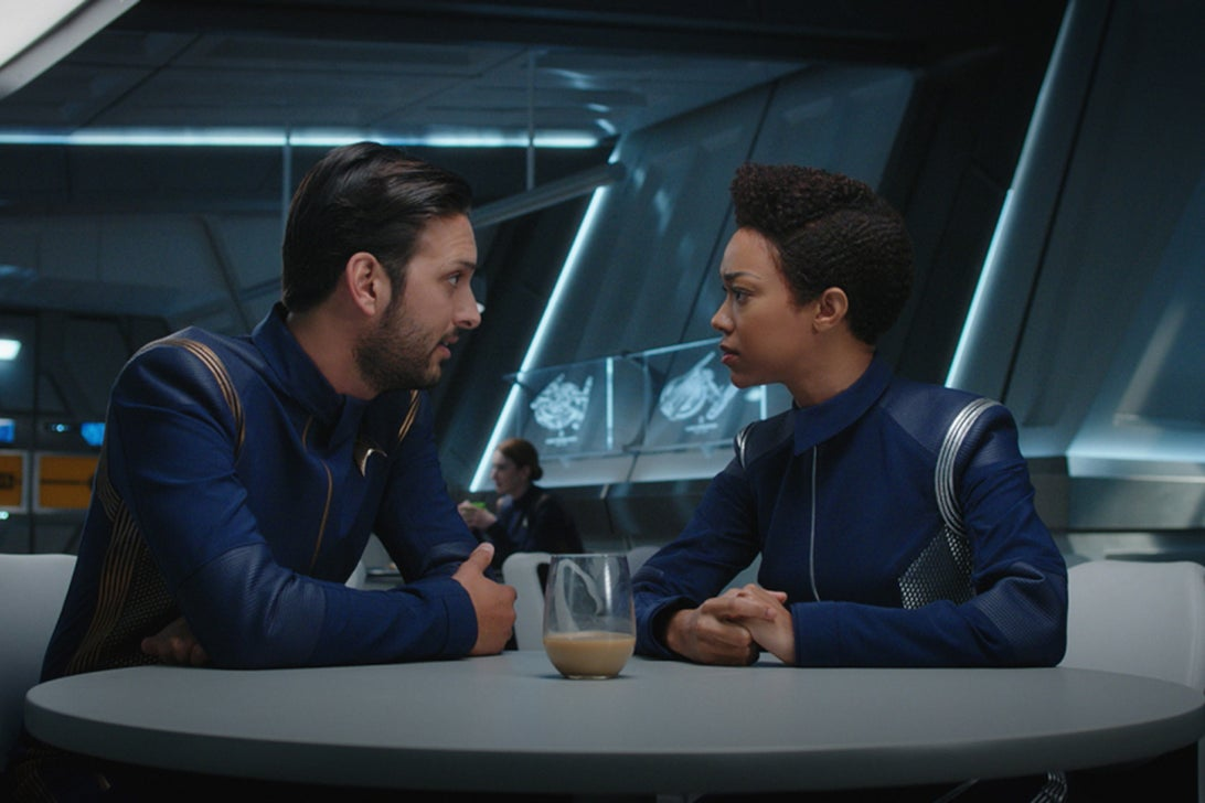 Shazad Latif, Sonequa Martin-Green; Star Trek: Discovery