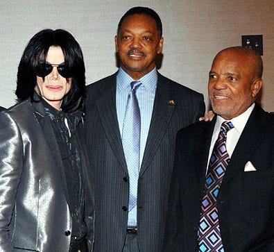 Michael Jackson, Reverend Jesse Jackson, Sr., Berry Gordy - Reverend Jesse Jackson's 66th Birthday bash at the Beverly Hilton Hotel, November 8, 2007