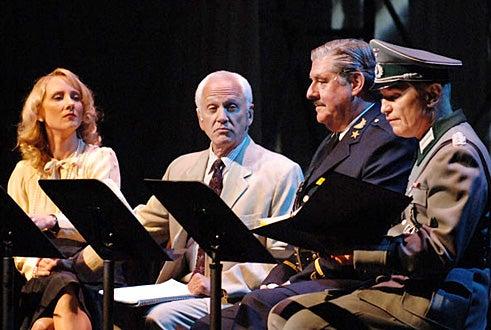 """Anne Heche, John Rubinstein, Edward Herrmann, Michael York - Actors Fund of America Benefit reading of """"Casablanca"""" - Oct. 2005"""