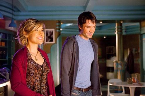 "Smallville - Season 9 - ""Warrior"" - Allison Mack and Carlo Marks"
