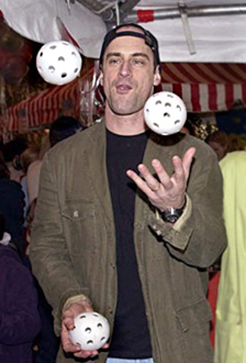 Christopher Meloni juggleing at The 9th Annual Kids for Kids Celebrity Carnival to Benefit the Elizabeth Glaser Pediatric AIDS Foundation, 2002
