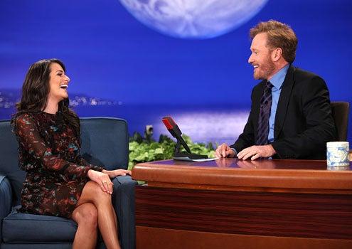 Conan - Season 1 - Lea Michele and Conan O'Brien