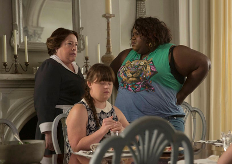 """American Horror Story: Coven - """"The Replacements"""" - Kathy Bares as Madame LaLaurie, Jamie Brewer as Nan, Gabourey Sidibe as Queenie"""