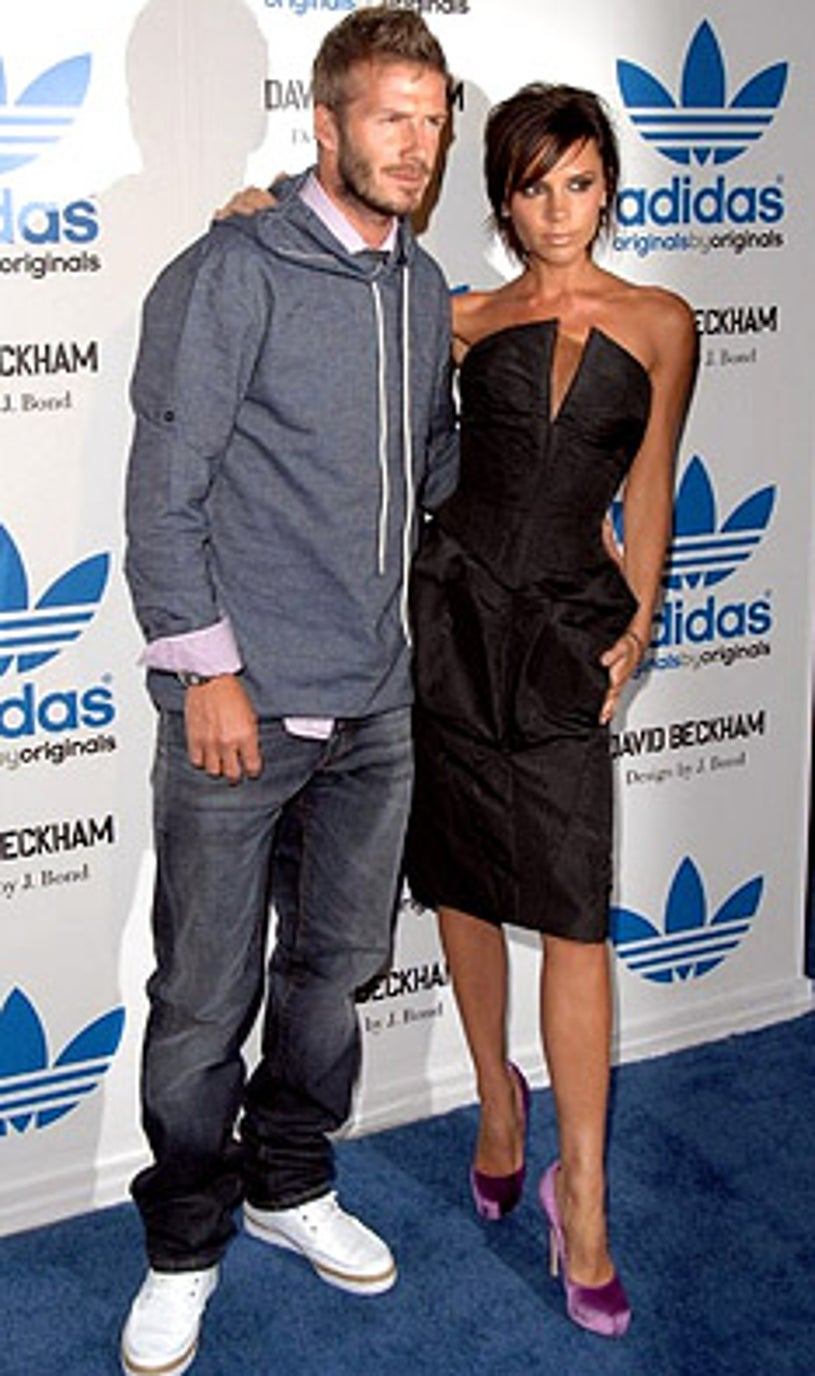 David and Victoria Beckham  - The James Bond Adidas launch party, October 1, 2009