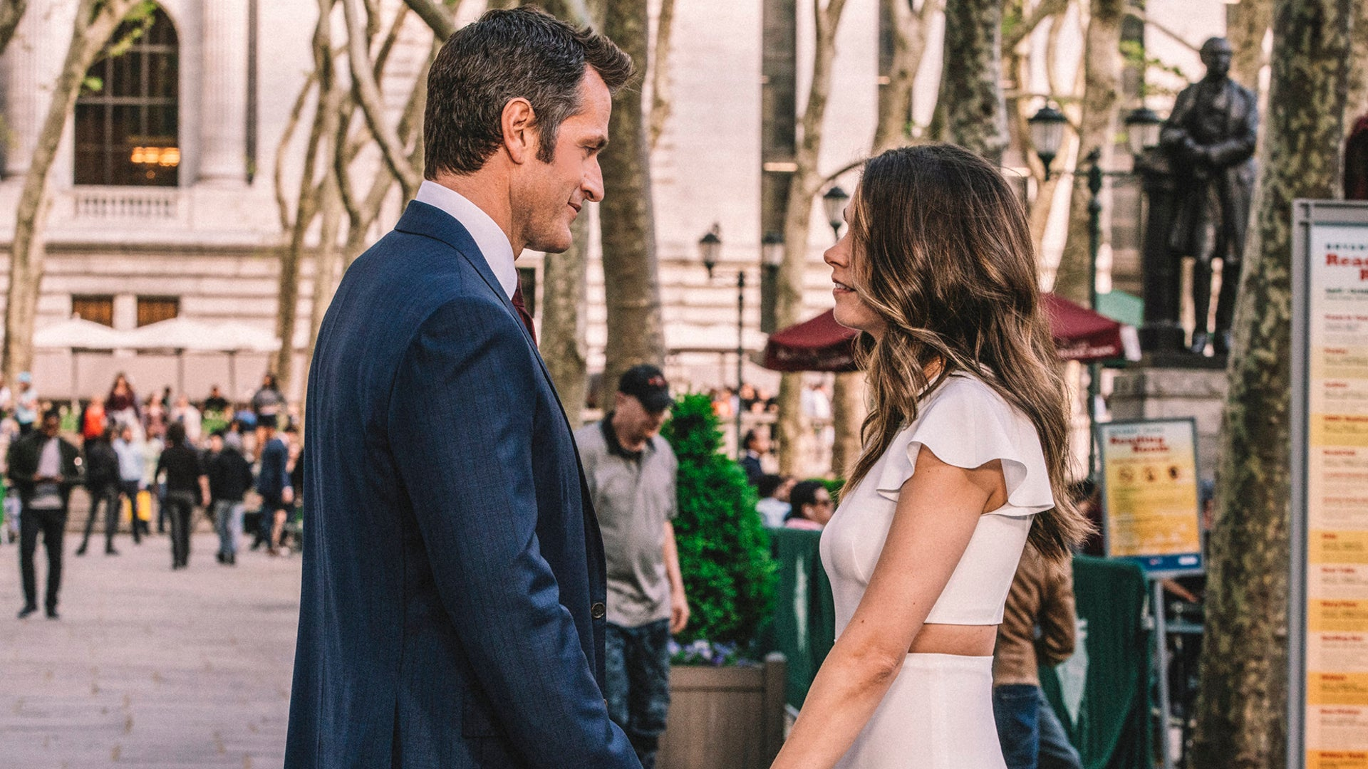 Sutton Foster and Peter Hermann, Younger