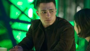 """Arrow's Stephen Amell and Emily Bett Rickards are """"So Game"""" for Colton Haynes' Return"""