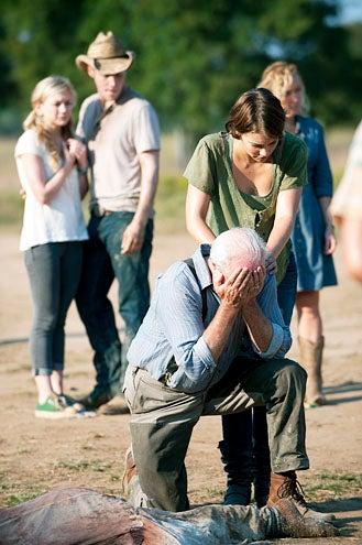 """The Walking Dead - Season 2 - """"Nebraska"""" - Emily Kinny, James Alle McCune, Scott Wilson, Lauren Cohan and Jane McNeill"""