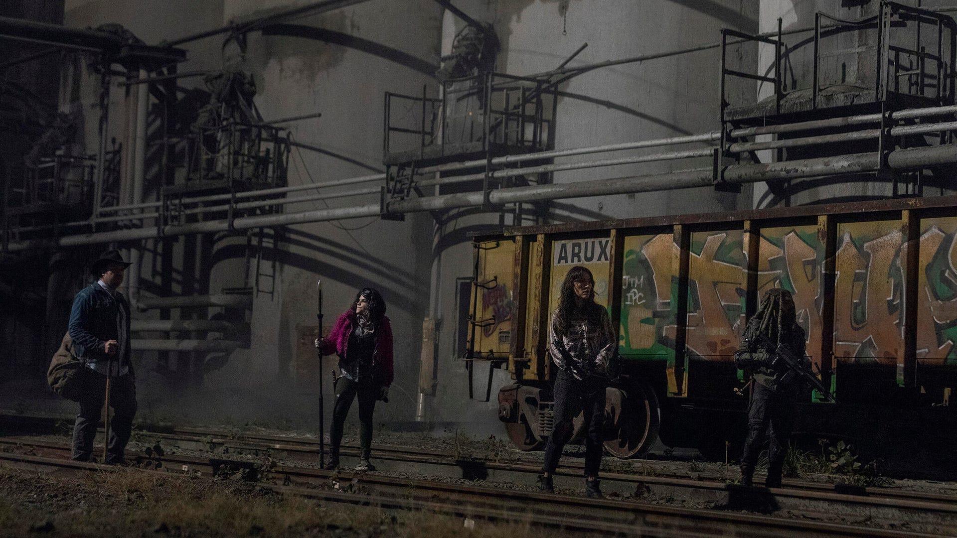Josh McDermitt, Paola Lazaro, Eleanor Matsuura, and Khary Payton, The Walking Dead