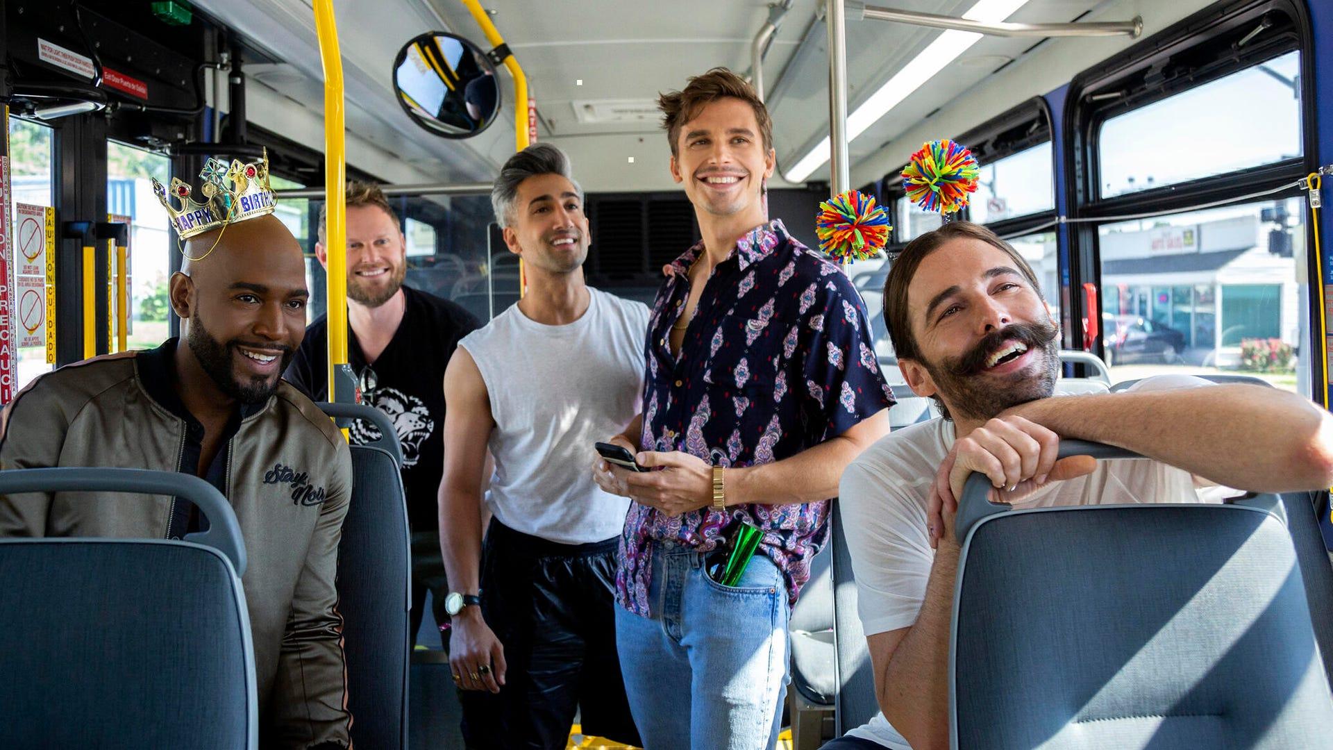 Karamo Brown, Bobby Berk, Tan France, Antoni Porowski, and Jonathan Van Ness, Queer Eye