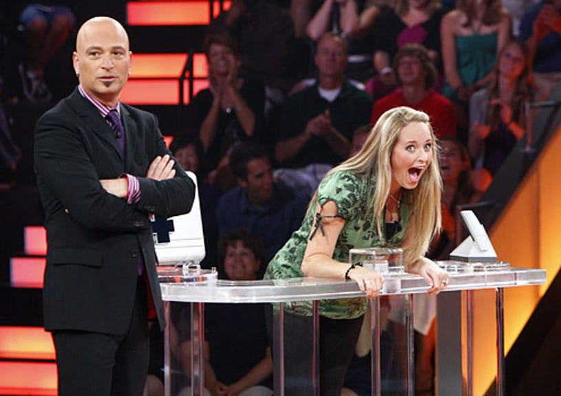 Deal or No Deal - Season 4 - Host Howie Mandel with contestant Jessica Robinson