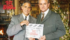 VIDEO: George Clooney Looks Dashing on the Set of Downton Abbey, Obviously