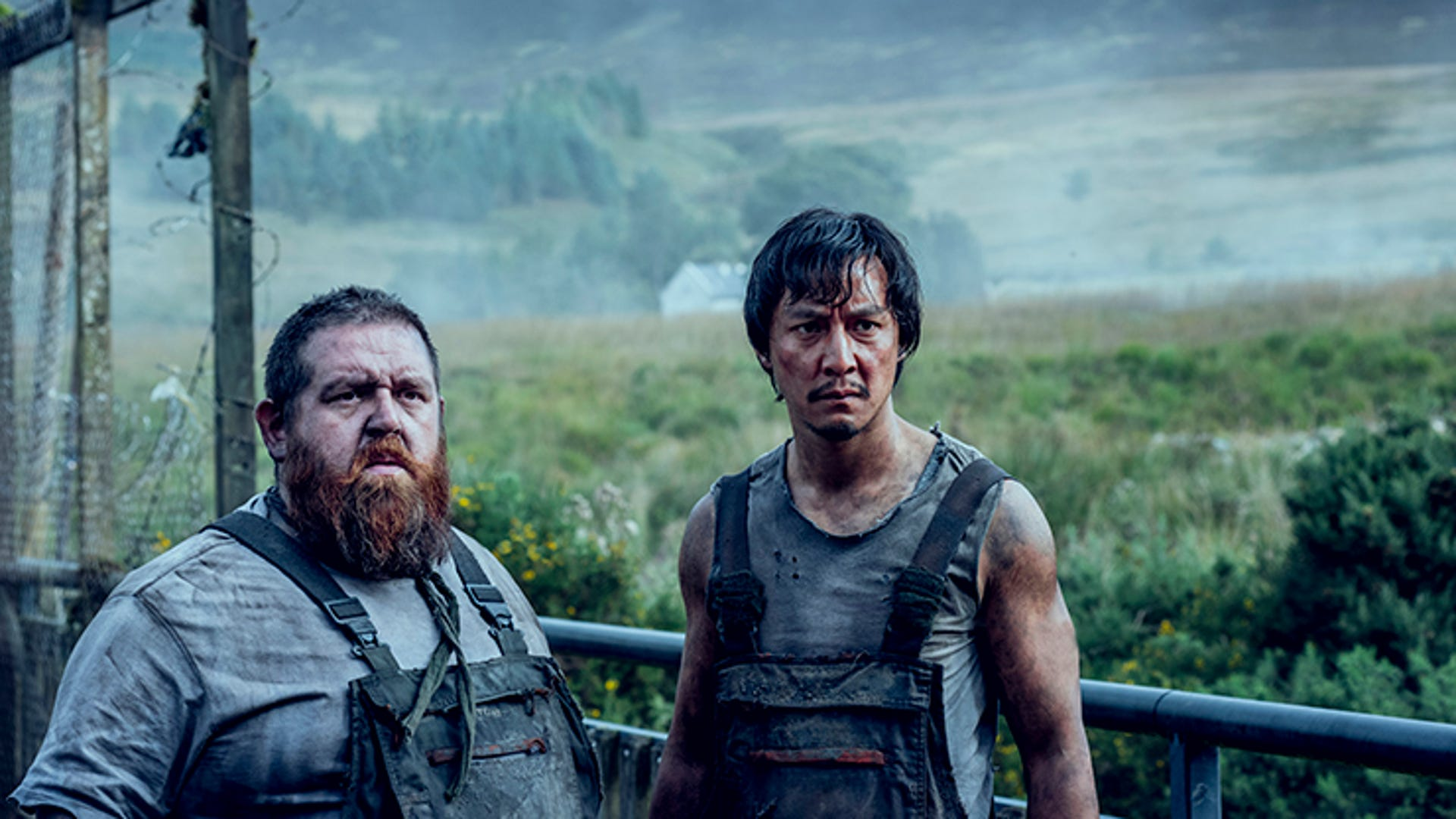 Nick Frost and Daniel Wu, Into the Badlands