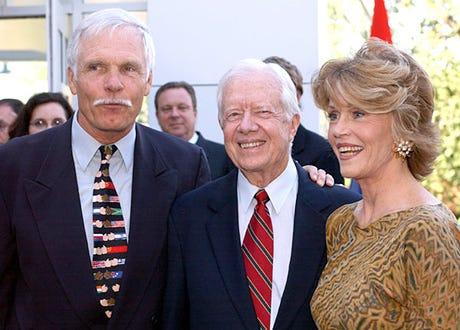 "Ted Turner, Former President Jimmy Carter and Jane Fonda - U.S. Fund for UNICEF presents ""Stars for Little Stars"" - 2003"