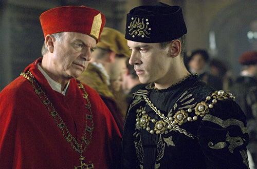 The Tudors - Season 1 - Episode 3 - Sam Neill as Cardinal Wolsey, Jonathan Rhys Meyers as Henry VIII