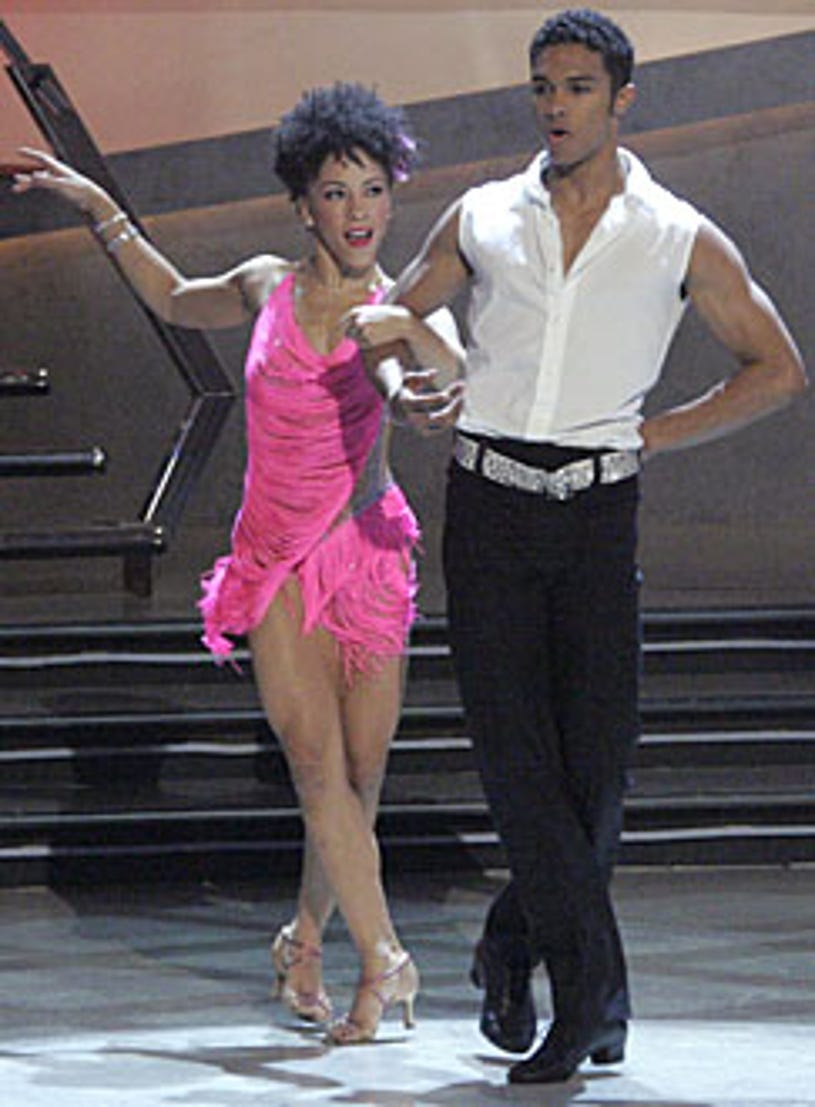 So You Think You Can Dance - Season 3 - Sabra Johnson (L) and Danny Tidwell (R) perform the Cha Cha together.