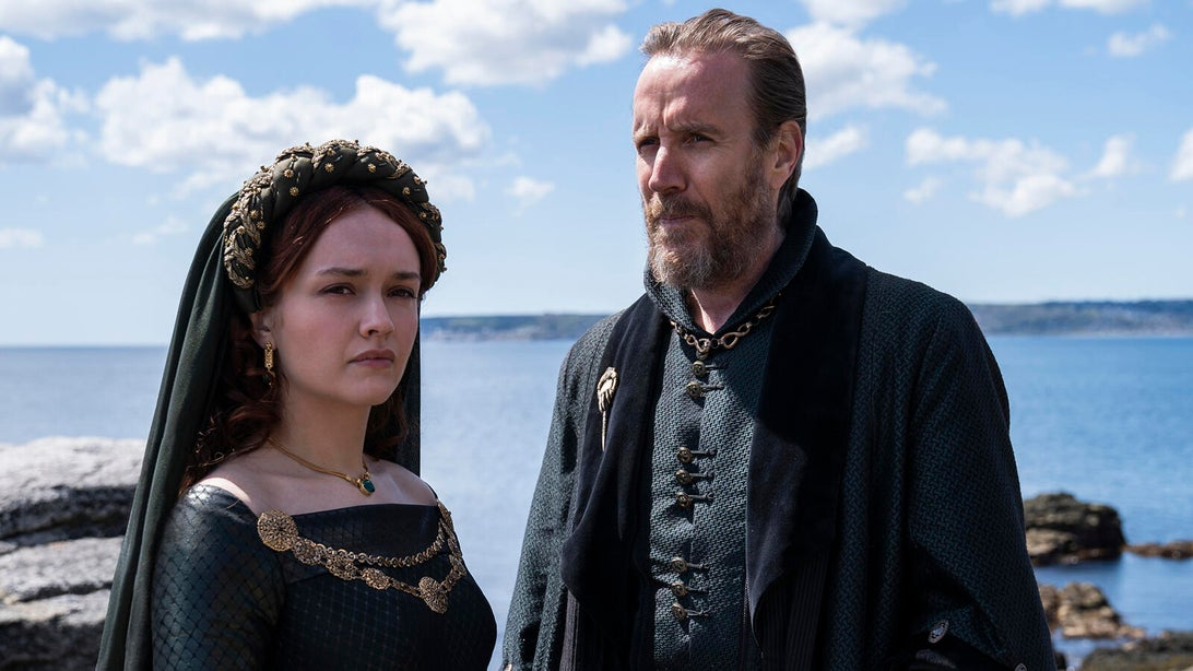 Olivia Cooke and Rhys Ifans, House of the Dragon