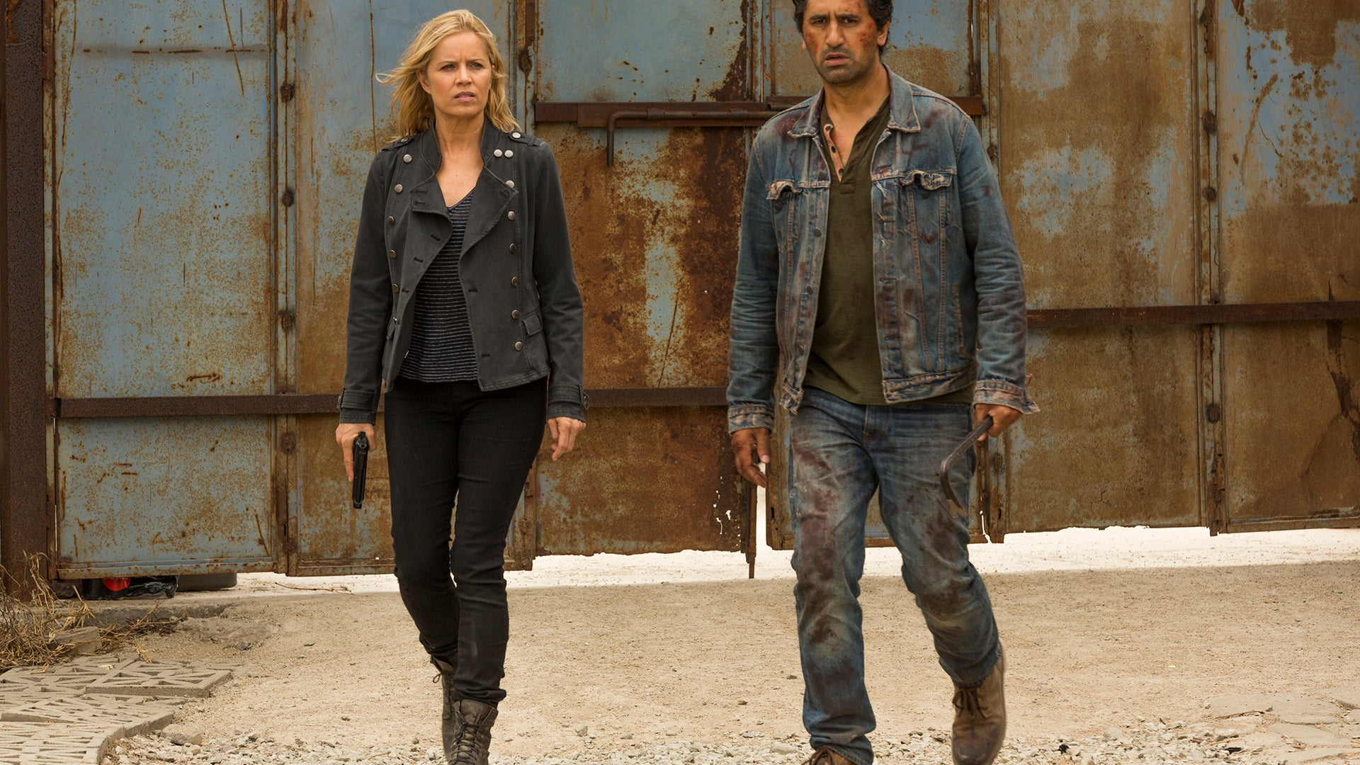Kim Dickens and Cliff Curtis, Fear the Walking Dead
