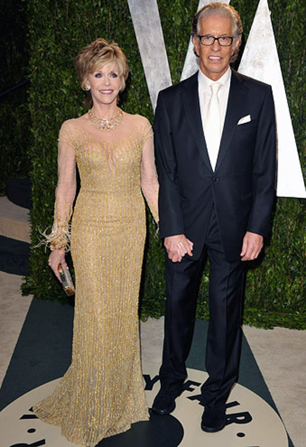 Jane Fonda and Richard Perry - The 2012 Vanity Fair Oscar party, February 26, 2012