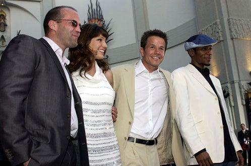 "Jason Statham, Kelly Brook, Mark Wahlberg and Mos Def - premiere of ""The Italian Job"", May  2003"