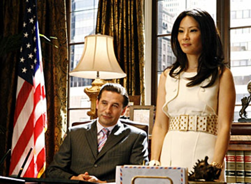 "Dirty Sexy Money - Season 2, ""The Summer House"" - William Baldwin as Patrick Darling, Lucy Liu as Nola Lyons"