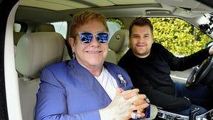 Elton John Joins James Corden for Post-Super Bowl Carpool Karaoke