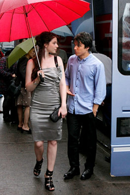 "Gossip Girl - Season 3 - ""Rufus Getting Married"" - Michelle Trachtenberg as Georgina, Chris Riggi as Scott"