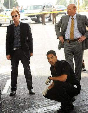 "CSI: Miami - Season 6 - ""All In"" - David Caruso as Horatio, Adam Rodriguez as Delco and Rex Linn as Tripp"