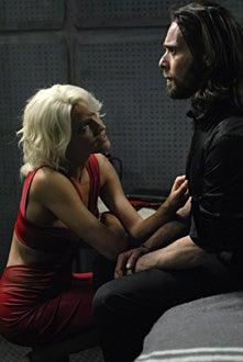 "Battlestar Galactica - Season 3 - ""Crossroads Part 1"" - Tricia Helfer as Number Six, James Callis as Dr. Gaius Baltar"