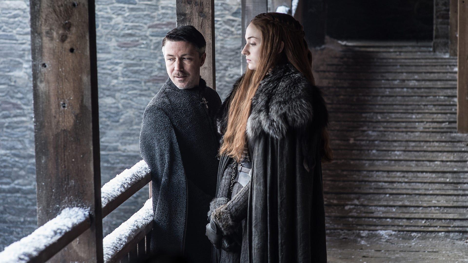 Aidan Gillen, Sophie Turner; Game of Thrones