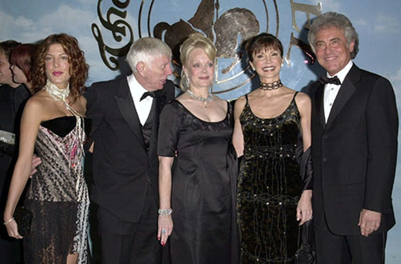 Aaron Spelling, Tori Spelling, Candy Spelling, Victoria Principal and guest - 14th Carousel of Hope Ball for Barbara Davis Center for Diabetes, October 28, 2000