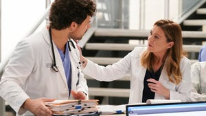 Grey's Anatomy Sneak Peek: Meredith and DeLuca Fight During the Blizzard