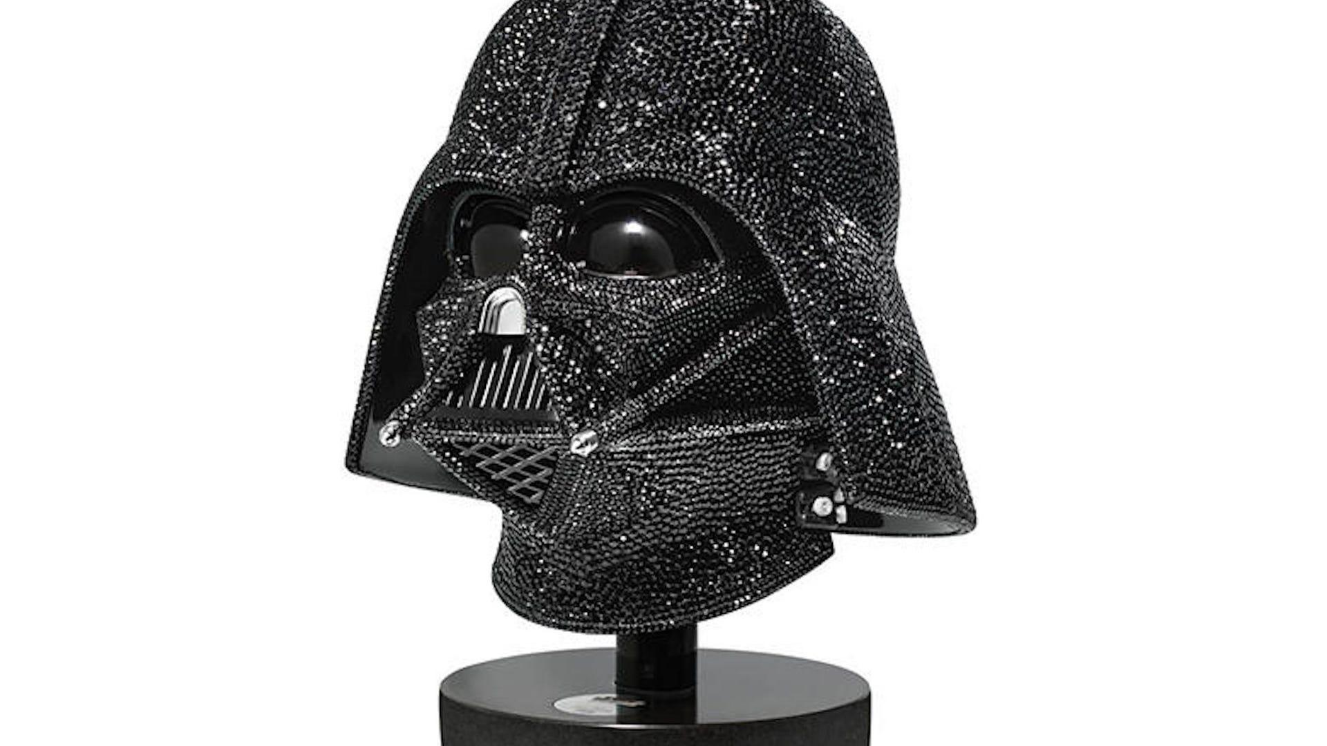 Darth Vader Swarovski crystal helmet