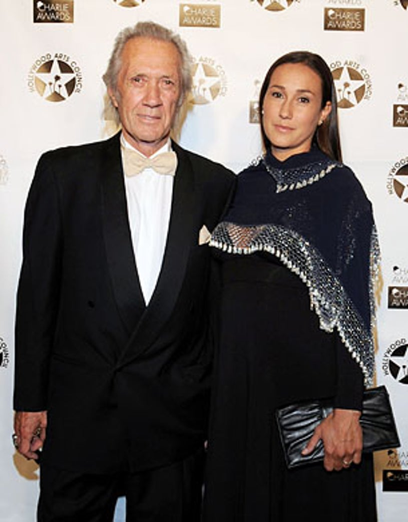 David Carradine and daughter Kansas - attend 23rd Annual Charlie Awards, Hollywood, April 19, 2009
