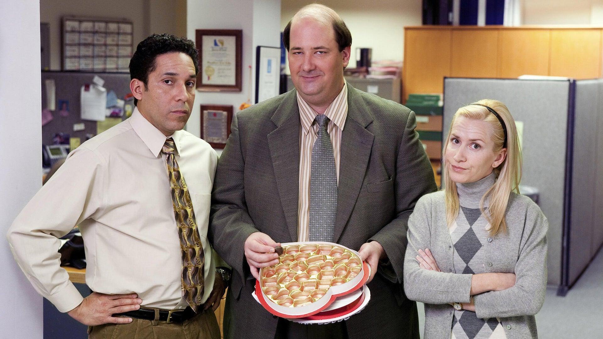 Oscar Nunez, Brian Baumgartner, and Angela Kinsey, The Office