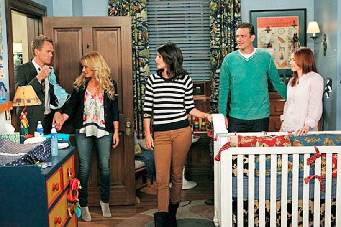 "How I Met Your Mother - Season 8 - ""FarHampton"" - Neil Patrick Harris, Becky Newton, Cobie Smulders, Jason Segel and Alyson Hannigan"